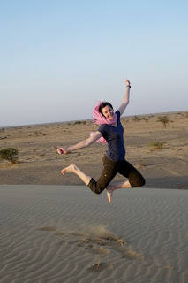 Jumping for Joy Sand Dune